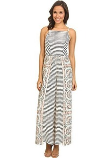 Nanette Lepore Women's Jetset Silk Print Mix Jumpsuit, Aqua, 0