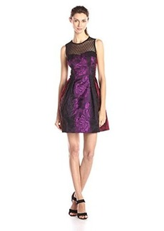 Nanette Lepore Women's Juliet Rose Sleeveless Dress, Scarlet Multi, 12