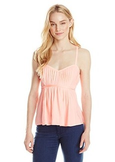 Nanette Lepore Women's La La Land Cami Pleat Front Sun Top, Creamsicle, 4