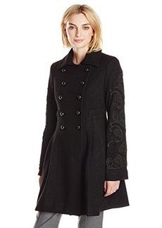 Nanette Lepore Women's Le Cafe Coat,Black,4