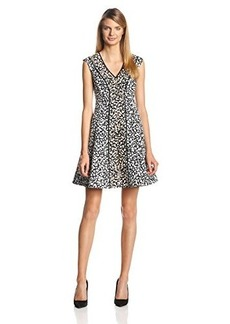 Nanette Lepore Women's Librarian Animal-Print Fit-And-Flare Dress