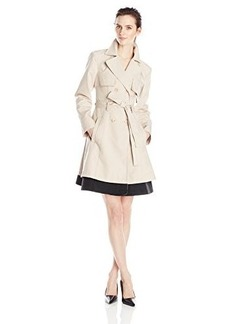Nanette Lepore Women's Mesmerizing Color-Block Trench Coat