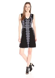 Nanette Lepore Women's Mystical Stitch Dress, Black/Multi, X-Small