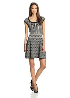 Nanette Lepore Women's No Regrets Fit and Flare Sweater Dress