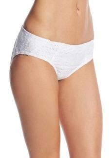Nanette Lepore Women's Ooh La La Eyelet Doll Bikini Bottom