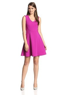 Nanette Lepore Women's Ottoman Fit-and-Flare Dress