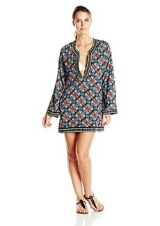 Nanette Lepore Women's Paloma Embroidered Tunic Cover Up