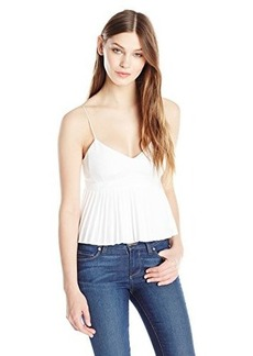 Nanette Lepore Women's Pleats Me Crop Top, White, 4