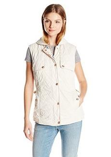 Nanette Lepore Women's Quilted Reversible Vest, Oyster, Medium