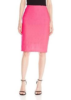 Nanette Lepore Women's Salsa Knit Pencil Skirt, Flamingo, Large