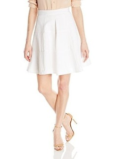 Nanette Lepore Women's Sassy Flared Skirt, White, 6