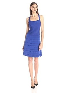 Nanette Lepore Women's Scallop Edge Sleeveless Dress, Sapphire, X-Small