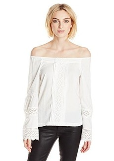 Nanette Lepore Women's Sea Breeze Long Sleeve Blouse, Ivory, 8