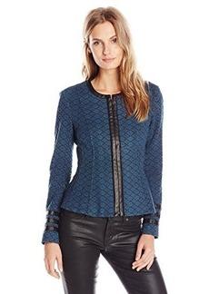 Nanette Lepore Women's Secret Society Jacket, Dark Teal, 6