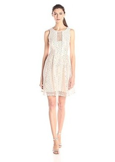 Nanette Lepore Women's Shimmer Shine Sleeveless Dress, Ivory, 4