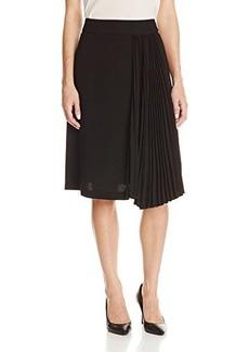 Nanette Lepore Women's Side Of Pleats Flared Skirt