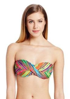 Nanette Lepore Women's Sinaloa Stripe Tease Bandeau Bikini Top