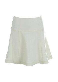 Nanette Lepore Women's Smitten Raffia Flared Skirt, White, 6