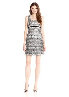 Nanette Lepore Women's Soiree Sleeveless Shift Dress, Black/Ivory, 14