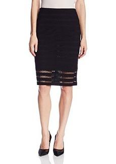 Nanette Lepore Women's Sojourn Textured-Jersey Pencil Skirt