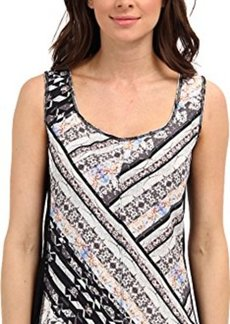 Nanette Lepore Women's Striped Silk Sleeveless Blouse, Stripe Multi, Large