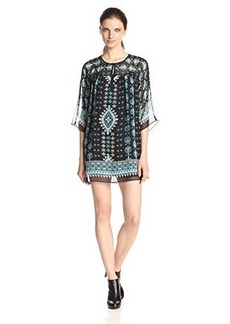 Nanette Lepore Women's Sun City Printed Silk Shift Dress