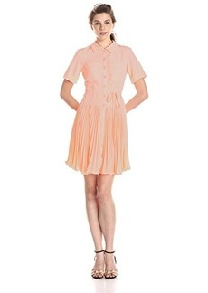 Nanette Lepore Women's Sunburst Pleated Shirt Dress
