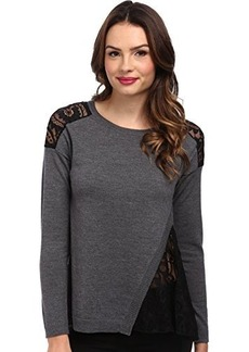 Nanette Lepore Women's Torcello Pullover Grey Sweater MD