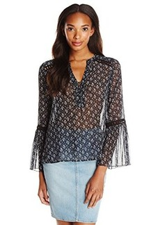 Nanette Lepore Women's Utopia Top, Black, Large