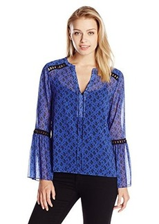 Nanette Lepore Women's Utopia Top, Cornflower, Medium