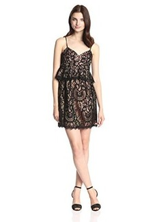 Nanette Lepore Women's Venetian Lace Slip Dress, Black, 2