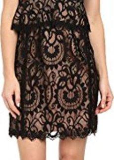 Nanette Lepore Women's Venetian Lace Slip Dress, Black, 0