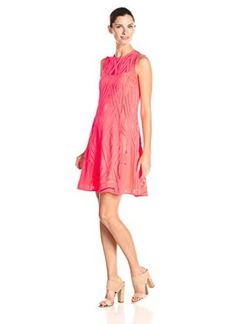 Nanette Lepore Women's Villa Burnout Lace Dress, Neon Coral, 2