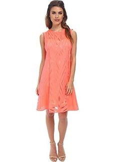 Nanette Lepore Women's Villa Burnout Lace Dress, Neon Coral, 10