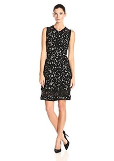 Nanette Lepore Women's Vista Lace Knit Fit and Flare Dress