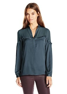 Nanette Lepore Women's Whisper Top, Teal, Small