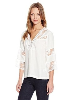 Nanette Lepore Women's Wind Song Top, Ivory, 0