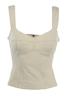 Nanette Lepore Women's Wineland Twill Corset Top, Ivory, 2