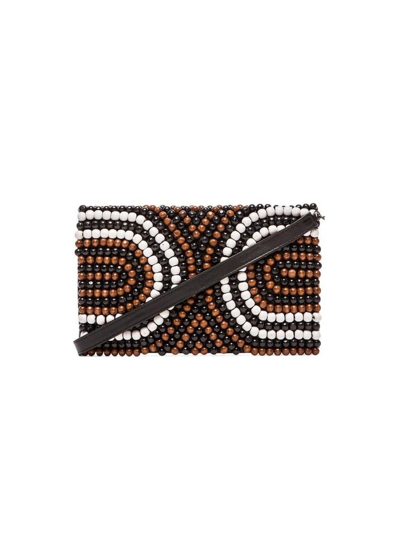 Nanette Lepore Wooden Beaded Clutch