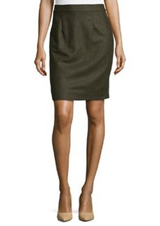 Nanette Lepore Wool-Blend Pencil Skirt, Army