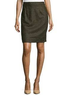 Nanette Lepore Wool-Blend Pencil Skirt, Army
