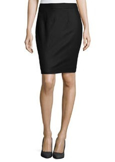 Nanette Lepore Wool-Blend Skirt, Black