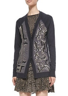 Nanette Lepore Wool/Silk Beaded Cardigan