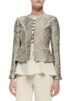 Nanette Lepore Zebra Jacket W/ Flared Hem