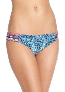 Nanette Lepore'Indigo Paisley Siren' Bikini Bottoms