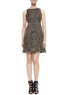 Pleated Embroidered Dress   Pleated Embroidered Dress