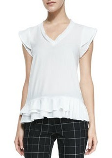 Poetry Ruffle-Trim V-Neck Top   Poetry Ruffle-Trim V-Neck Top