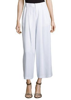 Promenade Wide-Leg Pants, White   Promenade Wide-Leg Pants, White