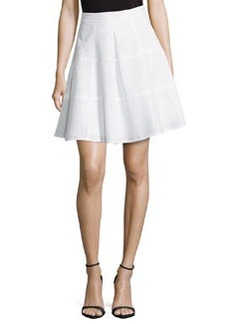 Sassy High-Waist Pleated Skirt, White   Sassy High-Waist Pleated Skirt, White