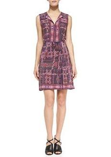 Sleeveless Carpet-Print Dress   Sleeveless Carpet-Print Dress